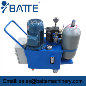 Screen changer hydraulic station