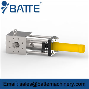 Single column screen changer for melt extrusion line